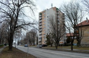 osijek, 6 veljaèe 2017, ulica kneza trpimira 1 b, zgrada,  prva koja ide u energetsku obnovu  preko projekta EU  snimio zdenko pušiæ